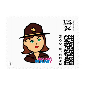 Sheriff Head - Medium Postage Stamp
