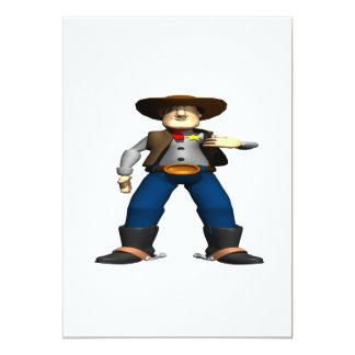 Sheriff 5x7 Paper Invitation Card