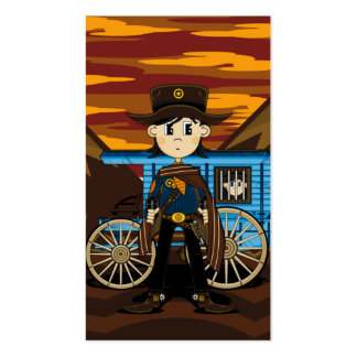 Sheriff  & Jail Wagon Bookmark Business Cards