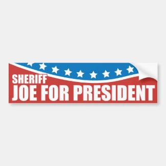 Sheriff Joe Arpaio del proyecto para el presidente Etiqueta De Parachoque