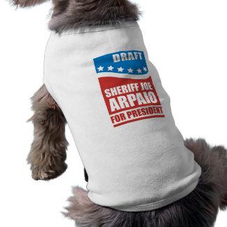 Sheriff Joe Arpaio del proyecto para el presidente Ropa De Mascota