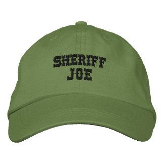 SHERIFF JOE Customizable Personalized Name Embroidered Hat