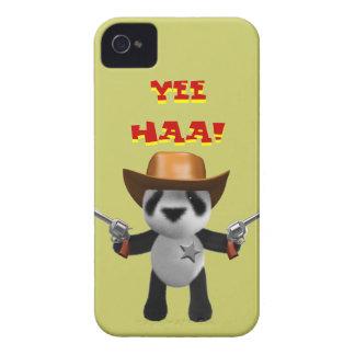 Sheriff lindo de la panda del bebé 3d Case-Mate iPhone 4 funda