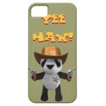 Sheriff lindo de la panda del bebé 3d iPhone 5 Case-Mate carcasas