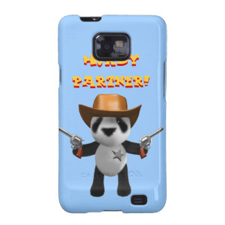 ¡Sheriff lindo de la panda del bebé 3d - Howdy Galaxy SII Carcasas