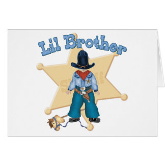 Sheriff Little Brother Card