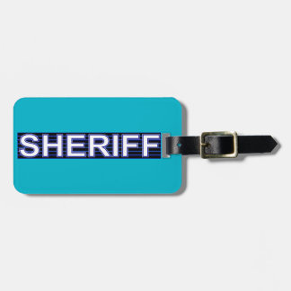 Sheriff Luggage Tag (add your contact info)