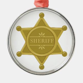 Sheriff Metal Ornament