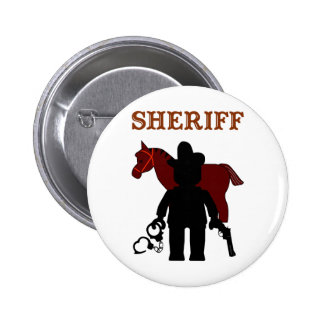 Sheriff Minifig by Customize My Minifig Pinback Button