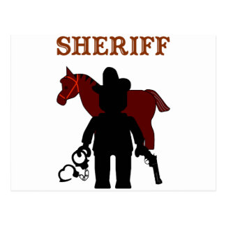 Sheriff Minifig by Customize My Minifig Postcard