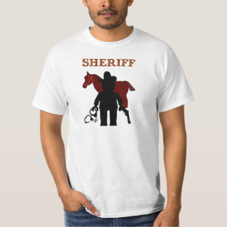Sheriff Minifig by Customize My Minifig T-Shirt