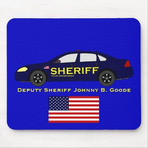 Sheriff Mousepad con la bandera americana Tapete De Raton