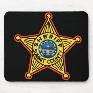Sheriff Mousepad. del condado de Summit Ohio
