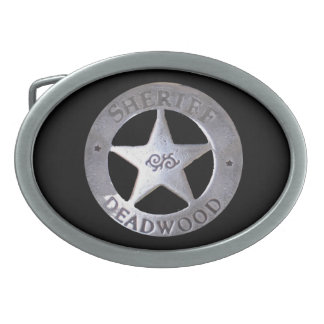 Sheriff of Deadwood Oval Belt Buckle
