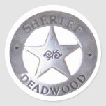 Sheriff of Deadwood Round Stickers