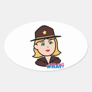 Sheriff Oval Sticker