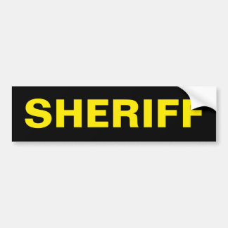 SHERIFF - pegatina para el parachoques amarilla de Pegatina Para Auto