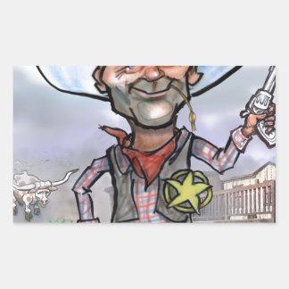 Sheriff Pegatina Rectangular