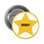 Sheriff Pin Redondo De 2 Pulgadas