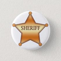 Sheriff plaque pinback button