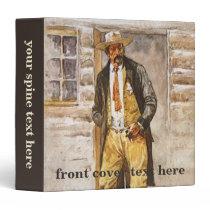 Sheriff Portrait by Seltzer, Vintage West Cowboy Binder