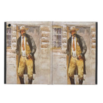 Sheriff Portrait by Seltzer, Vintage West Cowboy Cover For iPad Air
