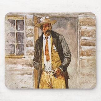 Sheriff Portrait by Seltzer, Vintage West Cowboy Mouse Pad