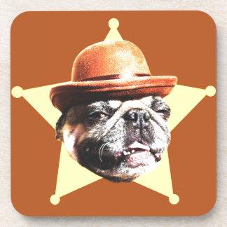 Sheriff Pug Drink Coaster