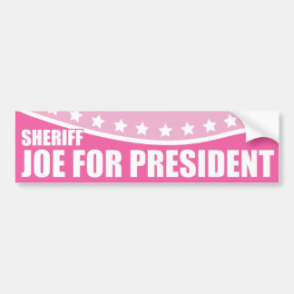 Sheriff rosado Joe del proyecto para el presidente Etiqueta De Parachoque