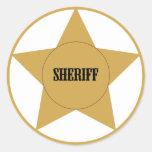 Sheriff Round Stickers