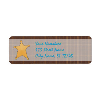 Sheriff s Star Return Address Label
