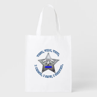 Sheriff's VVV Badge Reusable Grocery Bags
