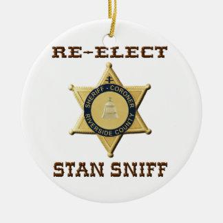 Sheriff Sniff Ceramic Ornament