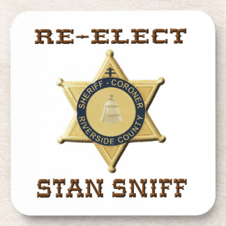 Sheriff Sniff Drink Coaster