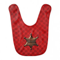 Sheriff Star Badge Baby Bib