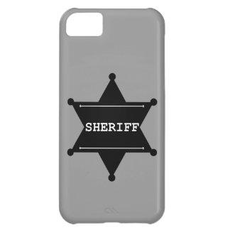 Sheriff Star - Black & White iPhone 5C Cover