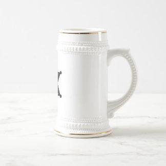 Sheriff Star - Black & White Coffee Mug