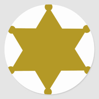 Sheriff star classic round sticker