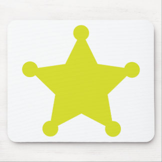 Sheriff Star Gold Mouse Pad