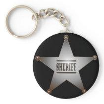 Sheriff star keychain