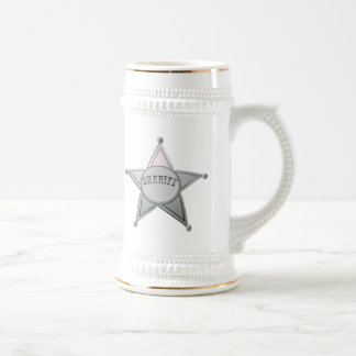 Sheriff Star Law Man Law Officer Police Badge Beer Stein