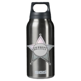 Sheriff Star Law Man Law Officer Police Badge Insulated Water Bottle