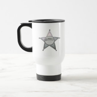 Sheriff Star Law Man Law Officer Police Badge Travel Mug