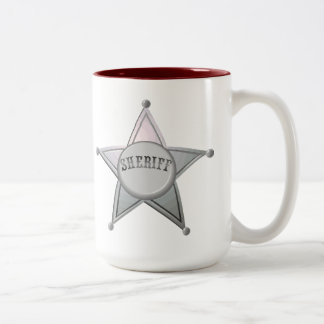 Sheriff Star Law Man Law Officer Police Badge Two-Tone Coffee Mug