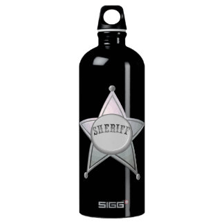 Sheriff Star Law Man Law Officer Police Badge Water Bottle