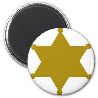 Sheriff star refrigerator magnets