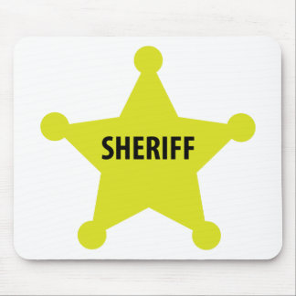 sheriff star mouse pad