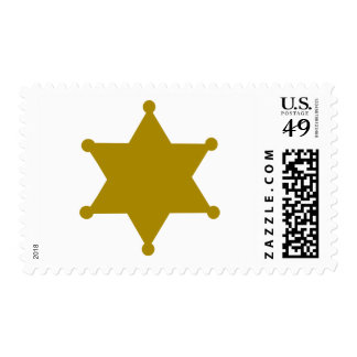 Sheriff star stamps