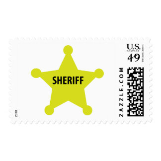 sheriff star postage stamps
