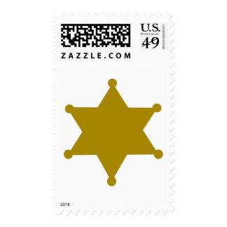 Sheriff star postage stamp